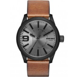 Diesel Mens Brown Leather Strap Rasp Watch DZ1764