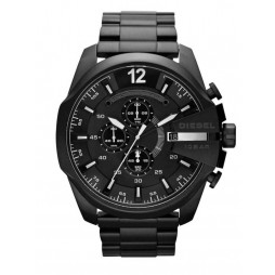 Diesel Mens Mega Chief Chronograph Dial Black Bracelet Watch DZ4283