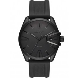 Diesel Mens Ms9 Black Dial Black Rubber Strap Watch DZ1892
