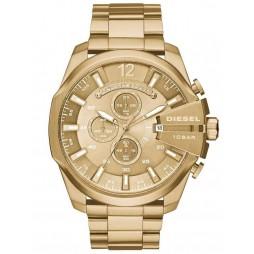 Diesel Mens Mega Chief Chronograph Dial Gold Plated Bracelet Watch DZ4360