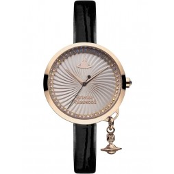 Vivienne Westwood Ladies Bow Strap Watch VV139RSBK