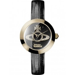 Vivienne Westwood Ladies Queensgate Strap Watch VV150GDBK
