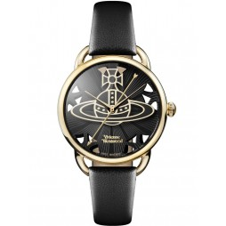 Vivienne Westwood Ladies Leadenhall Strap Watch VV163BKBK