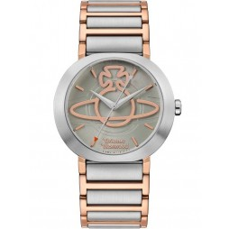 Vivienne Westwood Ladies Clerkenwell Two Colour Rose Gold Plated Bracelet Watch VV222GRTT