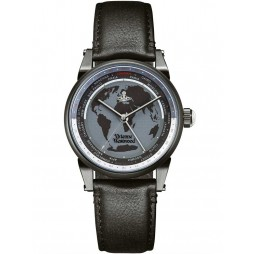 Vivienne Westwood Mens Finsbury World Watch VV065MBKBK