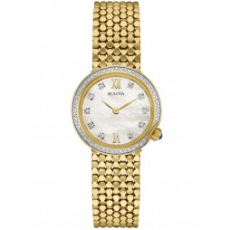 Bulova Ladies Diamond Gallery Diamond Bracelet Watch 98W218