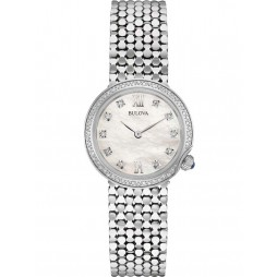 Bulova Ladies Diamond Mother Of Pearl Watch 96W206