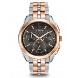 Bulova Mens Curv Two Tone Chronograph Watch 98A160