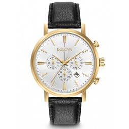 Bulova Mens Classic Gold Plated Watch 97B155