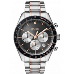 BOSS Mens Trophy Chronograph Two Tone Bracelet Watch 1513634