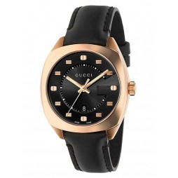 Gucci Ladies G-Frame Rose Gold Plated Strap Watch YA142407
