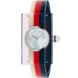 Gucci Ladies Fashion Show Stainless Steel Mutlicolored Plexiglass Bangle Watch  Watch YA143523