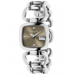 Gucci Ladies G-Gucci Diamond Bracelet Watch YA125503