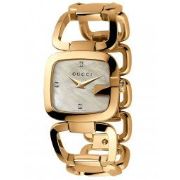 Gucci Ladies G-Gucci Diamond Bracelet Watch YA125513