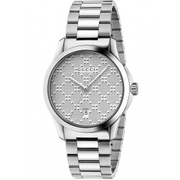 Gucci Ladies G-Timeless Stainless Steel Bracelet Watch YA126459