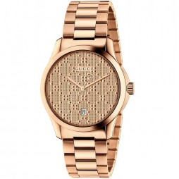 Gucci Ladies Rose Gold Plated G Timeless 38mm Watch YA126482