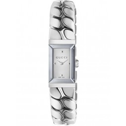 Gucci Ladies Rectangular Small Chain Link Bracelet Watch YA147501