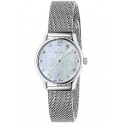 Gucci Ladies Signature Small Mesh Bracelet Watch YA126583