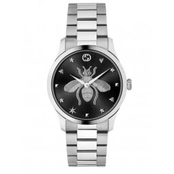 Gucci Ladies G-Timeless Black Dial Bee Motif Bracelet Watch YA1264136