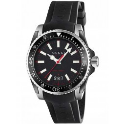 Gucci Mens Dive Black Strap Watch YA136303