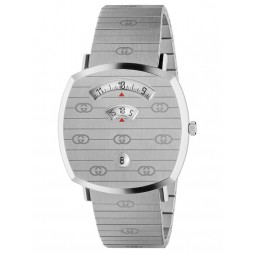 Gucci Mens Grip Stainless Steel Covered Dial Bracelet Watch YA157410
