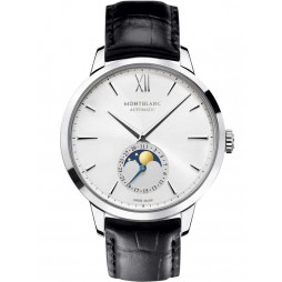 Montblanc Mens Heritage Spirit Moonphase Automatic Strap Watch 110699