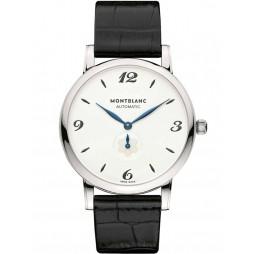 Montblanc Mens Star Classique Black Leather Strap Watch 107073