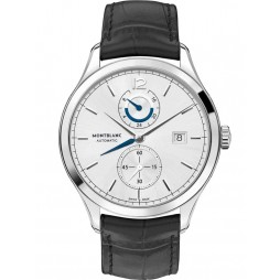 Montblanc Mens Heritage Chronometrie Dual Time Leather Strap Watch 112540