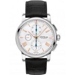 Montblanc Mens 4810 Chronograph Black Leather Strap Watch 114855
