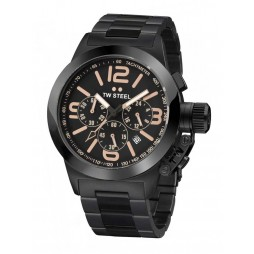 TW Steel Mens Canteen Chronograph Black Bracelet Watch TW0312