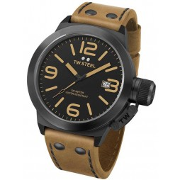 TW Steel Mens Canteen Brown Strap Watch TWCS41