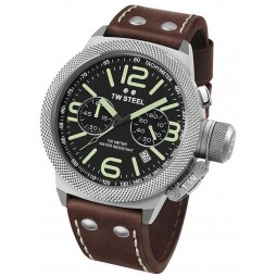 TW Steel Mens Canteen Brown Strap Watch TWCS23