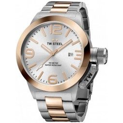 TW Steel Mens Canteen Two Tone Bracelet Watch TWCB121