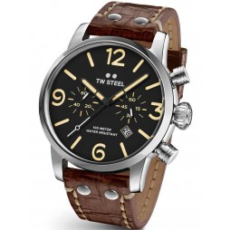 TW Steel Mens Brown Maverick Strap Watch TWMS4