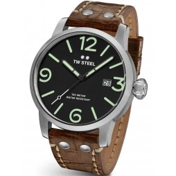 TW Steel Mens Maverick Brown Strap Watch TWMS12