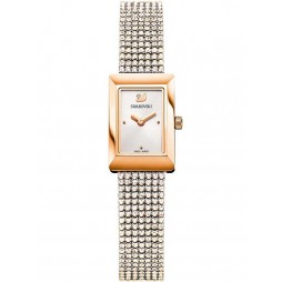 Swarovski Ladies Memories Rose Gold Plated Crystal Bracelet Watch 5209184