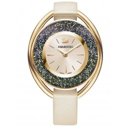 Swarovski Crystalline Oval Rose Gold Plated Watch 5296319