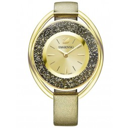 Swarovski Crystalline Oval Gold Tone Gold Strap Watch 5296314