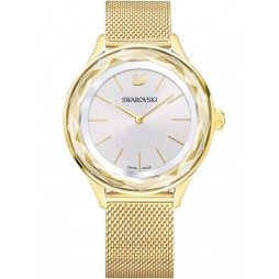 Swarovski Ladies Octea Nova Gold Plated Mesh Watch 5430417