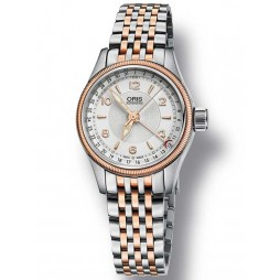 Oris Ladies Big Crown Two Tone Bracelet Watch 594 7680 4331-07B