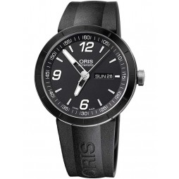 Oris Mens TT1 Rubber Automatic Strap Watch 735-7651-4174-07RS