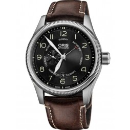 Oris Mens Big Crown Strap Watch 74576884064-07LS