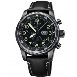 Oris Mens Big Crown Chronograph Strap Watch 675-7648-4234-07LS