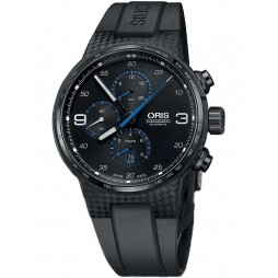 Oris Limited Edition Williams Chronograph Carbon Fibre Extreme Black Strap Watch 674 7725 8764-07 4 24 50