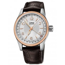 Oris Mens Big Crown Two Tone Automatic Strap Watch 754 7679 4331-07LS