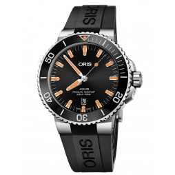 Oris Mens Aquis Date Rubber Strap Watch 733 7730 4159-07 4 24 64EB