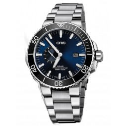 Oris Mens Aquis Small Second and Date Bracelet Watch 743 7733 4135-07 8 24 05PEB