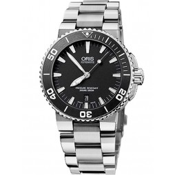 Oris Mens Aquis Automatic Bracelet Watch 73376534154BW