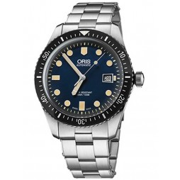 Oris Divers Sixty Five Stainless Steel Bracelet Watch 733 7720 4055-07 8 21 18