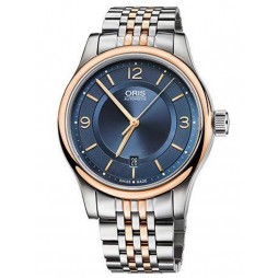 Oris Mens Classic Two Tone Automatic Bracelet Watch 733 7594 4335-17B